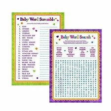 fa8108978 Baby Shower Word Games - Word Search & Word Scramble For Boy and Girl Unisex