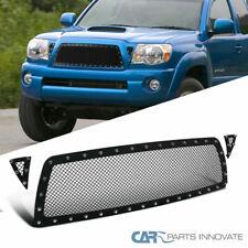For 05-11 Toyota Tacoma Pickup Upper Mesh Wire Rivet Black S/S Grille Insert