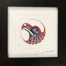Yukie Adams Tlingit Art Lithograph Signed Matted Framed Open Edition A107 Eagle