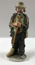 Emmett Kelly Jr.-Sweeping Up-Flambro Limited Edition-Hobo Clown-Figurine- No Box