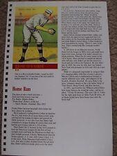Home Run Baker 1989 Baseball Card Engagement Book w/ 1911 Mecca Double Folder