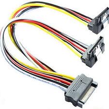 DELOCK 60128 ge-WINKEL-t SATA Y Kabel Adapter SSD Stromkabel 15-polig 2 S-ATA