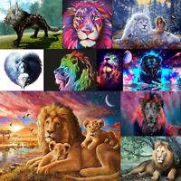 5D DIY Full Drill Diamond Painting Lion Theme Pattern Cross Stitch Decor