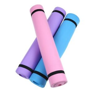 4MM Thick Yoga Mat Pad EVA Nonslip Exercise Fitness Pilate Gym Soft Durable Safe