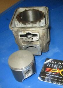 SKIDOO ROTAX 670 CYLINDER AND PISTON SET FRESH BORED .040 ( 1.0MM) NON HO