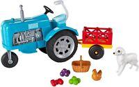 Barbie Fattoria Playset Tractor and Trailer Dog Hen Original MATTEL GFF49