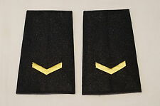 Canadian Police One 1 Chevron Gold Shoulder Slip Ons Pair