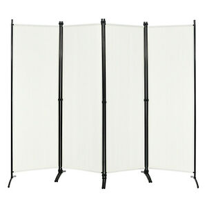 4 Panel 5.6ft Room Divider Privacy Screens Home Office Furniture Folding Steel