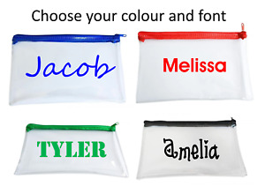 Custom Personalised Clear Exam Pencil Case With Name Back to School