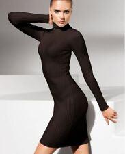 WOLFORD MERINO RIB DRESS, MOCCA, SIZE SMALL, UK 10, USA 6, RRP £450, New in box