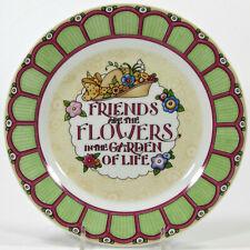 "Mary Engelbreit 2001 At Home With 8"" Dessert Plate Friends Flowers Garden Life"