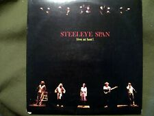 STEELEYE SPAN LIVE AT LAST 1978 RECORD CHRYSALIS CHR 1199