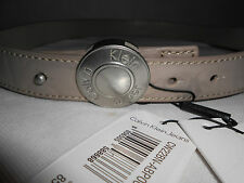 NEW Womens Authentic Calvin Klein Beige Faux PU Belt Size 85  £55