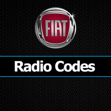 CODICE RADIO FIAT DUCATO 500 PUNTO PANDA DOBLO SCUDO STILO MULTIPLA codici di tutte le auto
