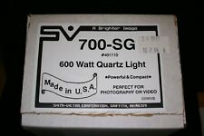 Smith Victor 700-SG Compact 600 Watt Quartz Light new old stock brand new