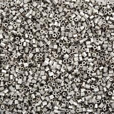 Miyuki Hex Cut 2mm Seed Beads Size 11/0 Palladium Plated 12g (Q14/5)