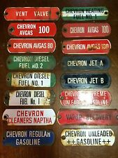 Vintage CHEVRON x16 Gasoline Porcelain Signs Gas Pump Station Oil Auto FULL SET