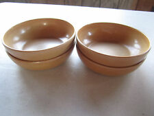 Set of 4 ELLINGERS Agatized Wood Bowls #60 Sheboygan, Wisconsin Vintage
