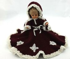 Baby Doll in Crocheted Winter Dress: with stand (HHHI13)