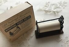 Vintage Dollhouse Miniature Shackman Wrapping Paper Roller With Box