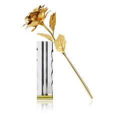 24K Goldene Rose Gold Blume Valentinstag Geburtstag Geschenk Box+Crystal base