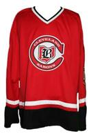 Any Name Number Size Cleveland Barons Custom Retro Hockey Jersey Red Maruk