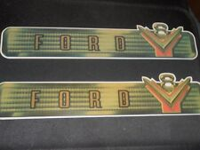 1954 FORD V8 CAR TRUCK VALVE COVER DECALS - PAIR