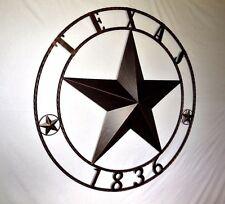 "32"" TEXAS 1836 BARN LONE STAR METAL WALL ART RUSTIC BRONZE WESTERN HOME DECOR"