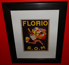 Florio S.O.M Framed Print by Marcello Dudovich Advertising Print 16x19