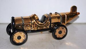 1911 Indianapolis 500 Ray Harroun Gold Replica Marmon Wasp Decanter Famous First
