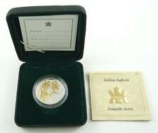 2003 Canada 50 Cents Proof Quality Silver & G/P Coin - Golden Daffodil - Cased