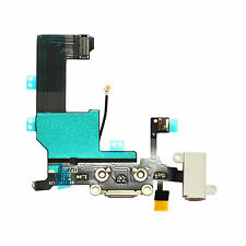 White Headphone Audio Dock Connector Charging Data USB Port Flex Cable iPhone 5