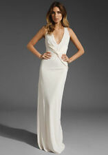NWT! HALSTON HERITAGE Twist Front Long Gown Bridal Dress Beach - SOLD OUT $425