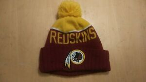 New Era NFL Washington Redskins On field Sideline Beanie Winter Pom Knit Cap Hat