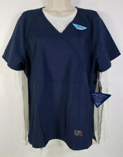 Koi Tech Nyla Womens Large Navy Mock Wrap Scrub Top & Underscrub Tee 2-Piece Set