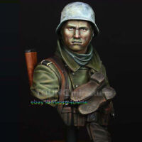 Unpainted 1/10 Scale Soldier Bust Garage Kits Unassembled Figure Model Statue