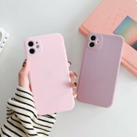 Square Edge Rubber Silicone Soft TPU Case Cover For iPhone 11 Pro Max XS XR 8 7