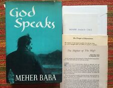 GOD SPEAKS Meher Baba 1973 Dodd Mead HC Second Edition - EXTRAS Chart & More
