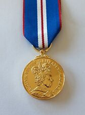 Queens Golden Jubilee Medal, Full Size, 2002, Ribbon, Army, Military, Police