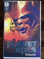 Planet Of The Apes The Human War #1 Signed By Ian Edginton Rainbow Foil Edition