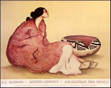 "R C Gorman Poster""Tonto Bowl"" Vintage GALLERY Poster FREE SHIPPING"