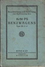 MERCEDES BENZWAGEN DS 2-6 16/50 PS Bedienungsbuch Betriebsanleitung BA