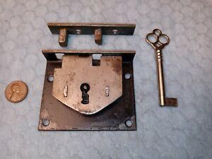 Chest Lock Steel Carpenter Box Semi-mortise Original Black Paint