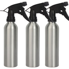 New 3Pcs Aluminum 240ml Green Soap Spray Tattoo Diffuser Bottles Squeeze Silver