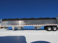 DCP 1/64 SCALE WILSON GRAIN TRAILER CHROME WITH BLACK TARP AND SILVER HOPPERS