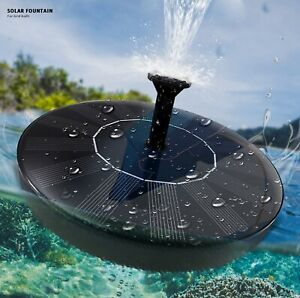 Solar Fountain Pump For Bird Bath With 4 Different Spray Heads. New In Box
