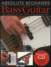 Absolute Beginners Bass Guitar TAB Music Book/CD Learn How to Play Method