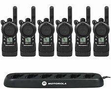 6 Motorola Cls1410 Uhf Business Two-way Radios with Bank Charger.
