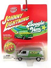 Johnny Lightning Boogie Vans 1976 76 Dodge D-150 Van Silver Die Cast 1/64 Scale
