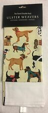 NWT Ulster Weavers Hound Dog Cotton Kitchen Tea Towel Set NEW